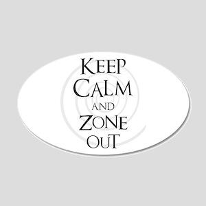 Twilight Zone - Keep Calm 20x12 Oval Wall Decal