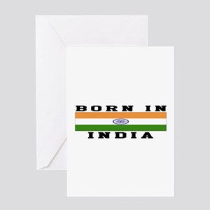 Born In India Greeting Card