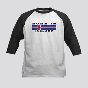 Born In Iceland Kids Baseball Jersey