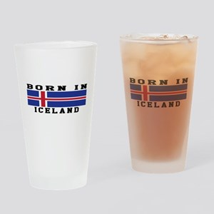 Born In Iceland Drinking Glass