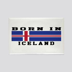 Born In Iceland Rectangle Magnet