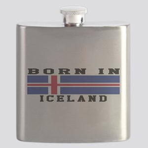 Born In Iceland Flask