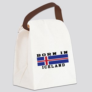 Born In Iceland Canvas Lunch Bag