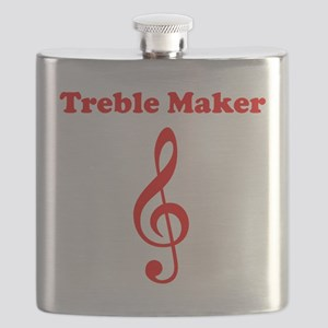 Treble Maker Red Flask