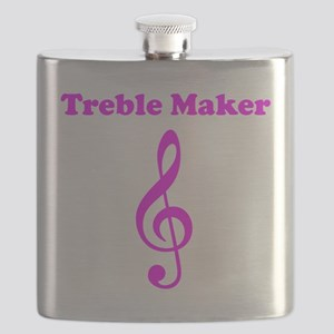 Treble Maker Pink Flask
