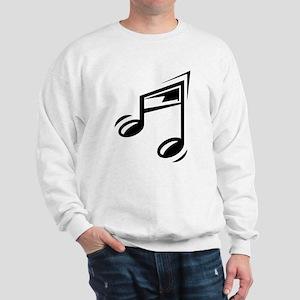Black Eighth Notes Sweatshirt