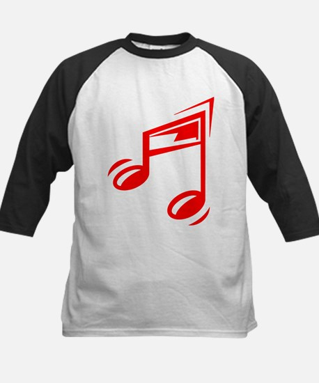 Red Eighth Notes Baseball Jersey