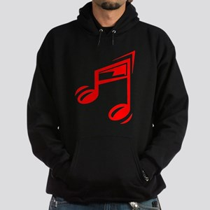Red Eighth Notes Hoodie