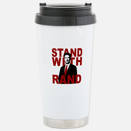 Stand With Rand Stainless Steel Travel Mug