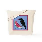 Crow & Watermelon Tote Bag