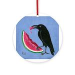 Crow & Watermelon Ornament (Round)