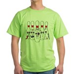 Funny Pins Green T-Shirt