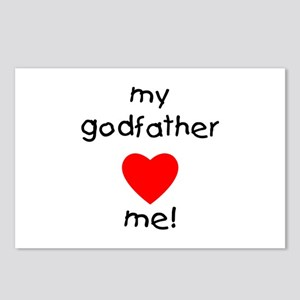 My godfather loves me Postcards (Package of 8)