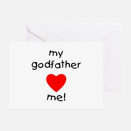 My godfather loves me Greeting Cards (Pk of 10