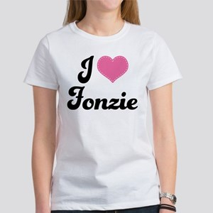 Cute I Love Fonzie Happy Days Women's T-Shirt