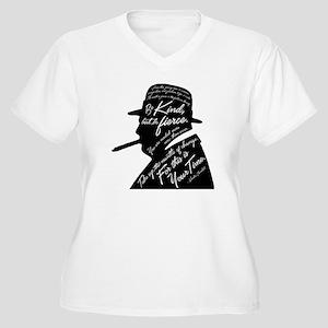 Churchill Women's Plus Size V-Neck T-Shirt