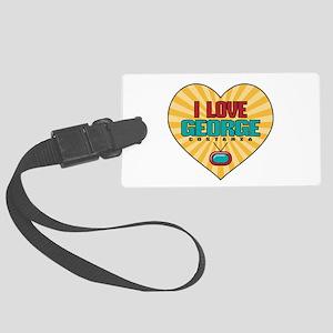 Heart George Costanza Large Luggage Tag