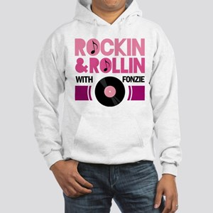 Rock and Roll Fonzie Hooded Sweatshirt