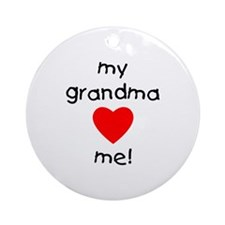 My grandma loves me Ornament (Round)