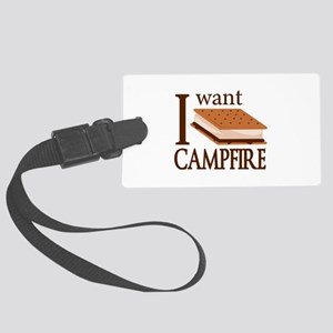 I Want Smore Campfire Large Luggage Tag