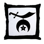 Shriners Silhouette Throw Pillow