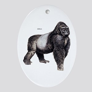 Gorilla Ape Animal Ornament (Oval)