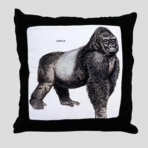 Gorilla Ape Animal Throw Pillow