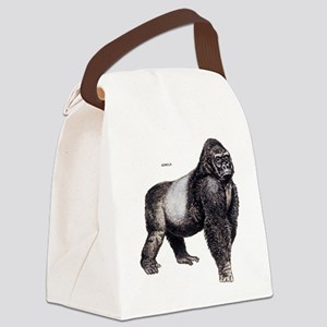 Gorilla Ape Animal Canvas Lunch Bag