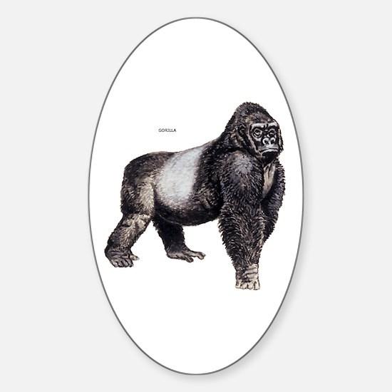 Gorilla Ape Animal Sticker (Oval)