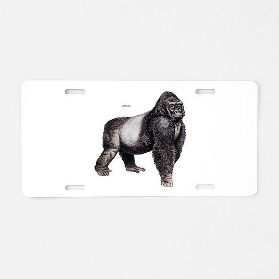 Gorilla Ape Animal Aluminum License Plate