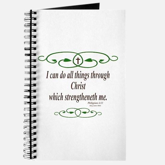 Philippians 4 13 Bible Verse Journal