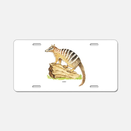 Numbat Banded Anteater Aluminum License Plate