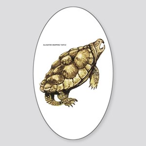 Alligator Snapping Turtle Sticker (Oval)