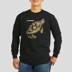 Alligator Snapping Turtle Long Sleeve Dark T-Shirt
