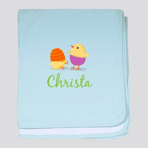 Easter Chick Christa baby blanket