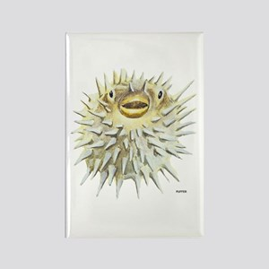 Puffer Fish Rectangle Magnet