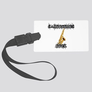 Saxophones Rock Luggage Tag