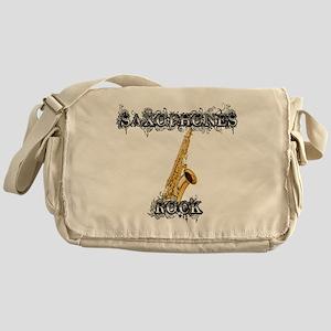 Saxophones Rock Messenger Bag