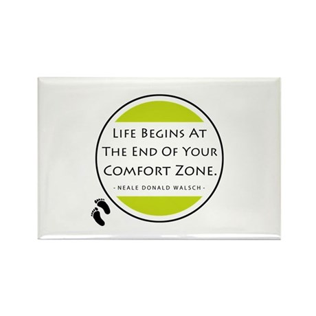 'Comfort Zone' Rectangle Magnet (10 pack)