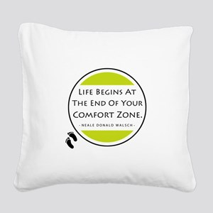 'Comfort Zone' Square Canvas Pillow