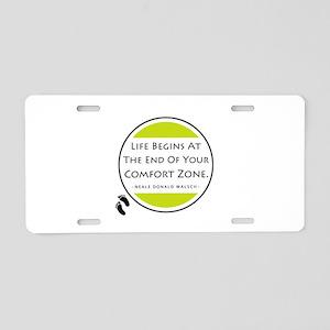 'Comfort Zone' Aluminum License Plate