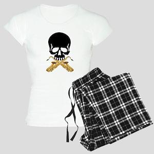 Skull with Saxophones Pajamas