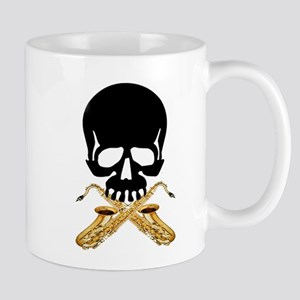 Skull with Saxophones Mug
