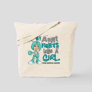 Licensed Fight Like a Girl 42.9 Cervical Tote Bag