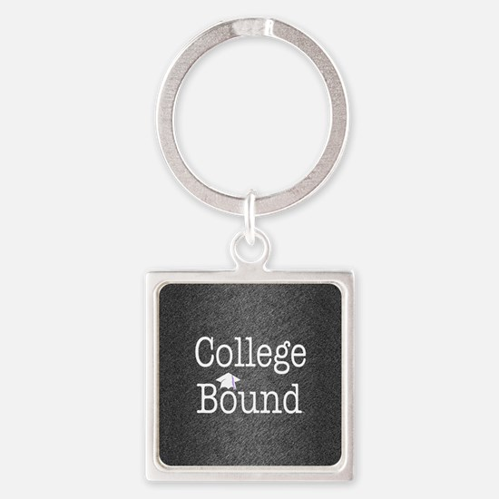 College Bound Square Keychain
