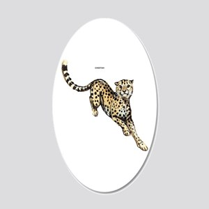 Cheetah Wild Cat 20x12 Oval Wall Decal