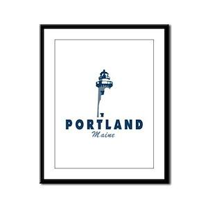Portland. Framed Panel Print