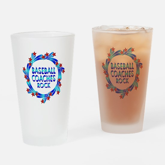 Baseball Coaches Rock Drinking Glass
