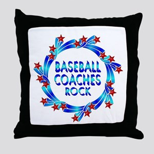Baseball Coaches Rock Throw Pillow