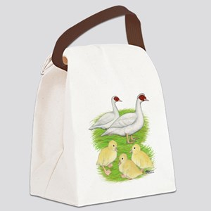 Duck White Muscovy Family Canvas Lunch Bag